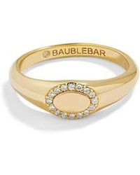 BaubleBar - Oval Pave Statement Ring - Lyst