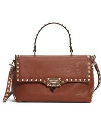 Valentino - Medium Rockstud Leather Crossbody Bag - Lyst