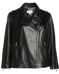 MICHAEL Michael Kors - Classic Leather Moto Jacket - Lyst