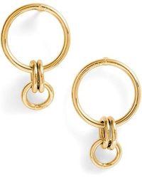 Melinda Maria - Jackson Interlocking Hoop Earrings - Lyst
