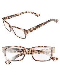 Corinne Mccormack - 'sydney' 51mm Reading Glasses - Taupe Demi - Lyst