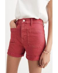 Madewell - Garment Dyed High Waist Denim Shorts - Lyst
