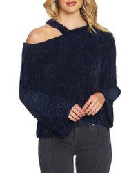 1.STATE | Split Neck Chenille Sweater | Lyst