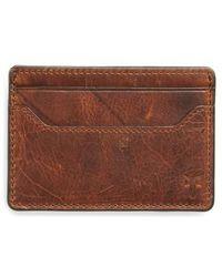 Frye | Logan Leather Money Clip Card Case | Lyst