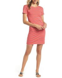 French Connection - Knit Stripe Body-con Dress - Lyst
