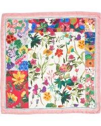 Ferragamo - Botanic Foulard Silk Scarf - Lyst