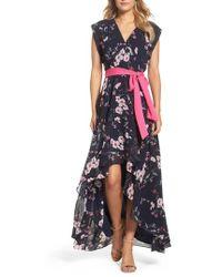Eliza J - High/low Wrap Dress - Lyst