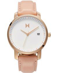 MVMT - Leather Strap Watch - Lyst