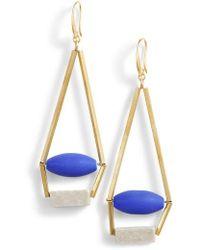 David Aubrey - Uma Royal Structure Earrings - Lyst