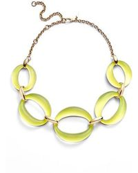 Alexis Bittar - Large Lucite Link Frontal Necklace - Lyst