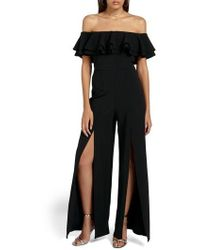 Missguided - Bardot Off The Shoulder Jumpsuit - Lyst
