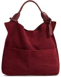 Sole Society - Jamari Suede & Faux Leather Tote - - Lyst
