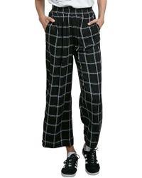 Volcom - Jumponit Windowpane Crop Pants - Lyst