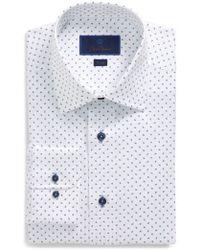 David Donahue - Trim Fit Paisley Dress Shirt - Lyst