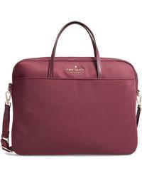 Kate Spade - Uni Slim Laptop Commuter Bag - Burgundy - Lyst