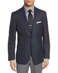 JB Britches - Classic Fit Check Wool Sport Coat - Lyst