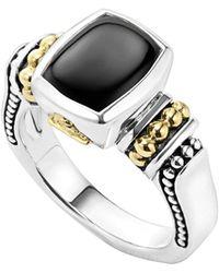 Lagos - 'caviar Color' Small Semiprecious Stone Ring - Lyst