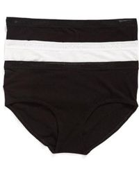 Naked - 3-pack Stretch Pima Cotton Hipster Briefs, Black - Lyst