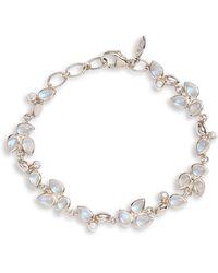 Anzie - Bezel Bouquet Fleur Rainbow Moonstone Bracelet - Lyst