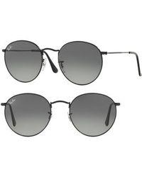 Ray-Ban - Phantos 50mm Round Sunglasses - - Lyst