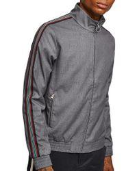TOPMAN - Melange Stripe Track Jacket - Lyst