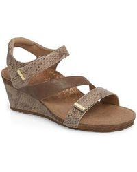 Aetrex - Brynn Asymmetrical Wedge Sandal - Lyst