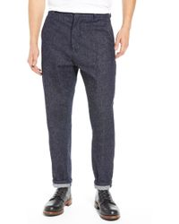 Levi's - Made & Crafted(tm) Tapered Straight Leg Cotton & Silk Trousers - Lyst
