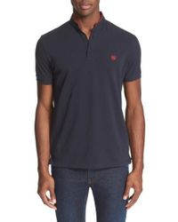 The Kooples | Band Collar Polo | Lyst