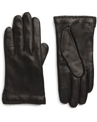 Frye Nora Whipstitch Lambskin Leather Touchscreen Gloves - Black