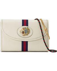 e5929ae4eb6023 Gucci Linea Cestino Glazed Wicker Mini Shoulder Bag in Metallic - Lyst