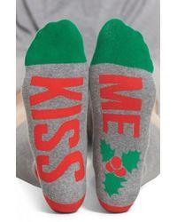 Sockart - Kiss Me Crew Socks - Lyst