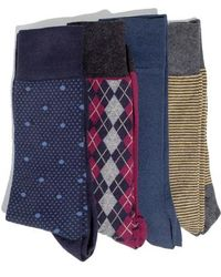 Hook + Albert - 4-pack Socks, Blue - Lyst