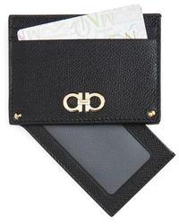 Ferragamo - Gancio Leather Card Case - - Lyst