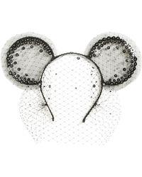 Gigi Burris Millinery - X Disney Mickey Magic Moment Midnight Veil Headband - Lyst