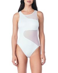 Kenneth Cole | All Meshed Up One-piece Swimsuit | Lyst