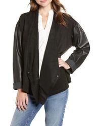 French Connection - Arethusa Faux Leather Jacket - Lyst