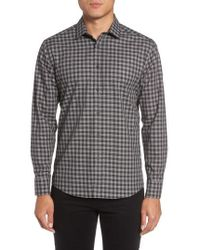 Vince Camuto | Slim Fit Check Sport Shirt | Lyst