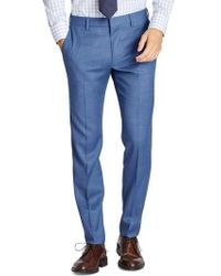 Bonobos | Jetsetter Flat Front Solid Stretch Wool Trousers | Lyst