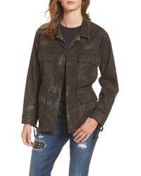 True Religion - Coated Military Jacket - Lyst