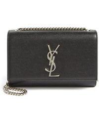 Saint Laurent - Small Kate Grained Leather Crossbody Bag - - Lyst