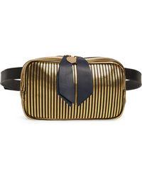 e6e35b3f24a6 Clare V. - Le Belt Disco Stripe Leather Belt Bag - - Lyst