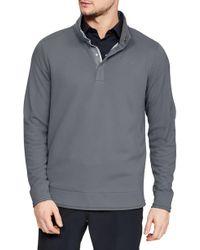 Under Armour - Storm Sweaterfleece Snap Mock Neck Pullover - Lyst