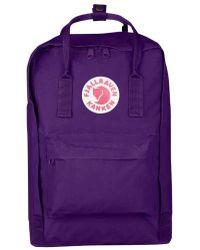 Fjallraven - 'kanken' Laptop Backpack - Purple - Lyst