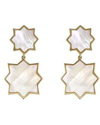Asha - Kismet Mother-of-pearl Drop Earrings - Lyst