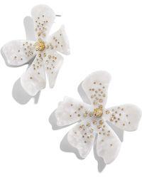 BaubleBar - Perla Resin Flower Earrings - Lyst