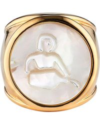 Asha - Zodiac Mother-of-pearl Ring - Lyst