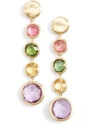 Marco Bicego - 'jaipur' Semiprecious Stone Linear Earrings - Lyst