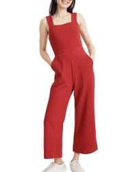 3ebd9dbad68 Madewell - Texture   Thread Apron Bow Back Jumpsuit - Lyst
