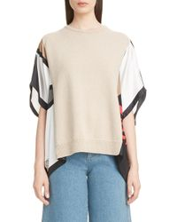 Loewe - Scarf Sleeve Cashmere Blend Sweater - Lyst