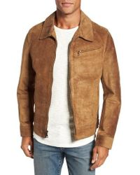 Schott Nyc - Unlined Rough Out Oiled Cowhide Trucker Jacket - Lyst